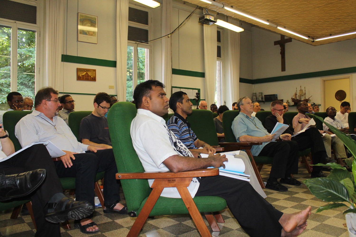 <b>Congress on Oblate Charism - first day in Rome</b><br>Some of the participants<br>Shanil Jayawardena OMI<br>June 30th, 2015